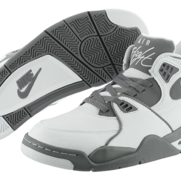 online store 3a605 5bd9f Nike Air Flight 89 Mens White Basketball Sneakers